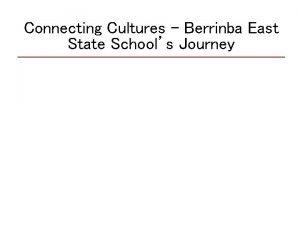 Connecting Cultures Berrinba East State Schools Journey School