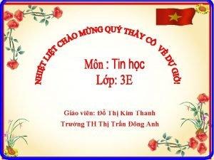 Gio vin Th Kim Thanh Trng TH Th