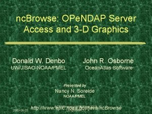 nc Browse OPe NDAP Server Access and 3