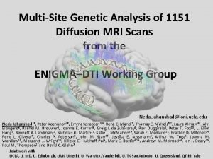 MultiSite Genetic Analysis of 1151 Diffusion MRI Scans