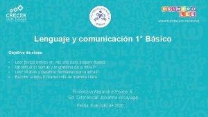 www fundacioncrecer net Lenguaje y comunicacin 1 Bsico