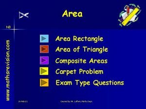 Area www mathsrevision com N 3 Area Rectangle