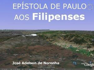 EPSTOLA DE PAULO AOS Filipenses Jos Adelson de