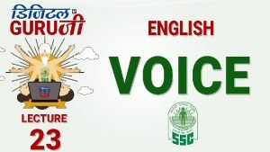 Voice Active Subject Verb Object Passive Object Verb