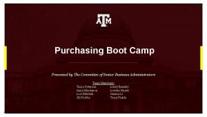 Purchasing Boot Camp Presented by The Committee of