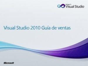 Visual Studio 2010 Gua de ventas 2 Microsoft