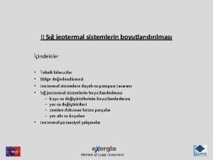 II S jeotermal sistemlerin boyutlandrlmas indekiler Teknik klavuzlar
