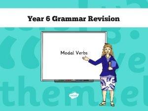 Year 6 Grammar Revision Modal Verbs Modal Verbs