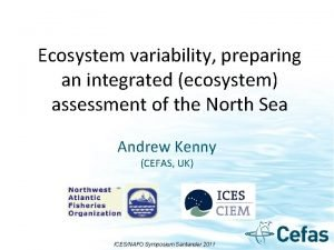 Ecosystem variability preparing an integrated ecosystem assessment of