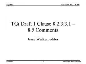 May 2001 doc IEEE 802 11 01298 TGi