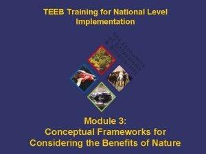 TEEB Training for National Level Implementation Module 3