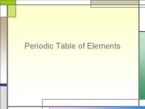 Periodic Table of Elements Dmitri Mendeleev First Table