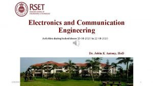Electronics and Communication Engineering Activities during locked down