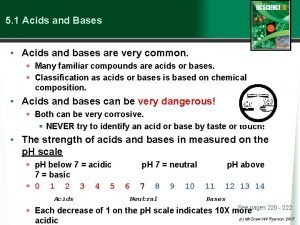 5 1 Acids and Bases Acids and bases