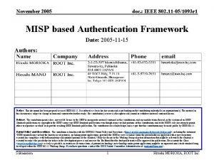 November 2005 doc IEEE 802 11 051093 r