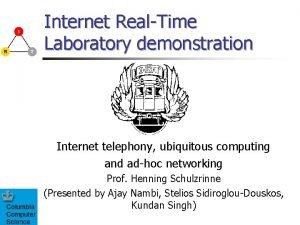 Internet RealTime Laboratory demonstration Internet telephony ubiquitous computing