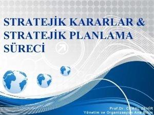 STRATEJK KARARLAR STRATEJK PLANLAMA SREC Prof Dr CEMAL