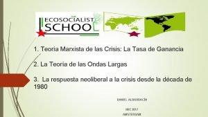 1 Teora Marxista de las Crisis La Tasa