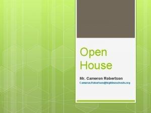 Open House Mr Cameron Robertson Cameron Robertsonhighlineschools org
