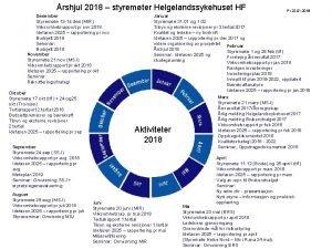 rshjul 2018 styremter Helgelandssykehuset HF Desember Styremte 13