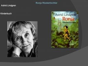 Ronja Rubertochter Astrid Lindgren Kinderbuch Fakten zum Buch