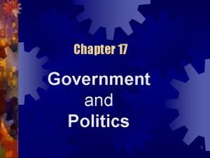 Chapter 17 Government and Politics 1 Politics and