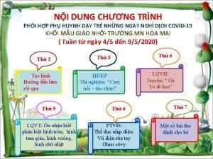 NI DUNG CHNG TRNH PHI HP PH HUYNH