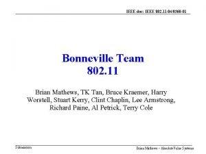 IEEE doc IEEE 802 11 040360 01 Bonneville