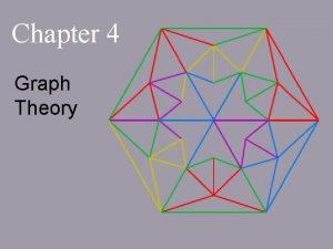 Chapter 4 Graph Theory Chapter 4 Graph Theory