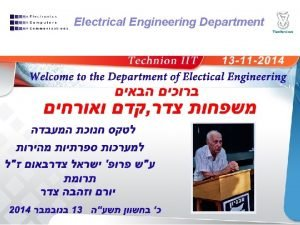 Electrical Engineering Department Electrical Engineering Department 2006 1910