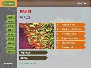 DAFTAR ISI BAB III BAB I VIRUS BAB