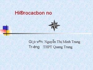Hirocacbon no Gio vin Nguyn Th Minh Trang