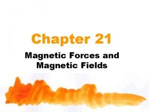 Chapter 21 Magnetic Forces and Magnetic Fields Outline