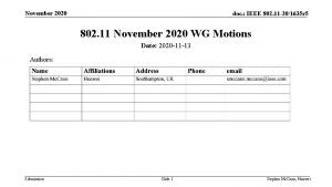 November 2020 doc IEEE 802 11 201635 r