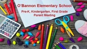 OBannon Elementary School PreK Kindergarten First Grade Parent