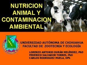 NUTRICION ANIMAL Y CONTAMINACION AMBIENTAL UNIVERSIDAD AUTNOMA DE