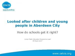 Looked after children and young people in Aberdeen