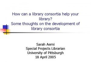 How can a library consortia help your library