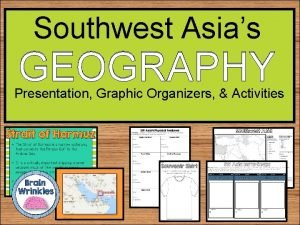 Southwest Asias GEOGRAPHY Presentation Graphic Organizers Activities Southwest