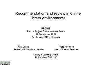 Recommendation review Recommendation and review in online library