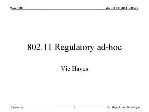March 2001 doc IEEE 802 11 00xxx 802