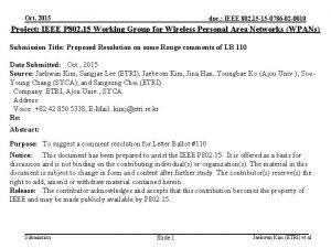 Oct 2015 doc IEEE 802 15 15 0786