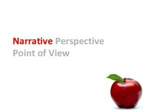 Narrative Perspective Point of View Authors Point of