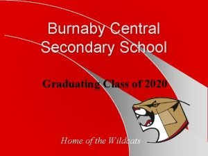 Burnaby Central Secondary School Graduating Class of 2020