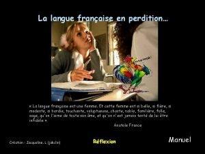 La langue franaise en perdition La langue franaise