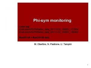 Phisym monitoring Laser tag Ecal Laser APDPNRatiosdata20111010158851177954 Ecal