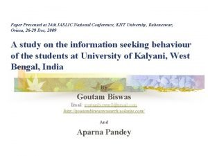 Paper Presented at 24 th IASLIC National Conference