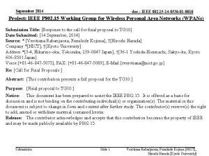 September 2014 doc IEEE 802 15 14 0536