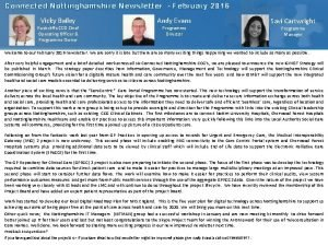 Connected Nottinghamshire Newsletter February 2016 Vicky Bailey Rushcliffe