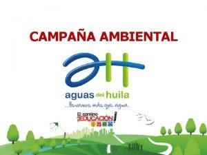 CAMPAA AMBIENTAL AVANCE DE LA CAMPAA AMBIENTAL VIVEINDAS